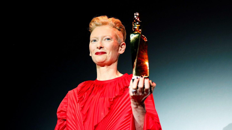 Tilda Swinton recoge el Gran Premi Honorífic. (Efe)