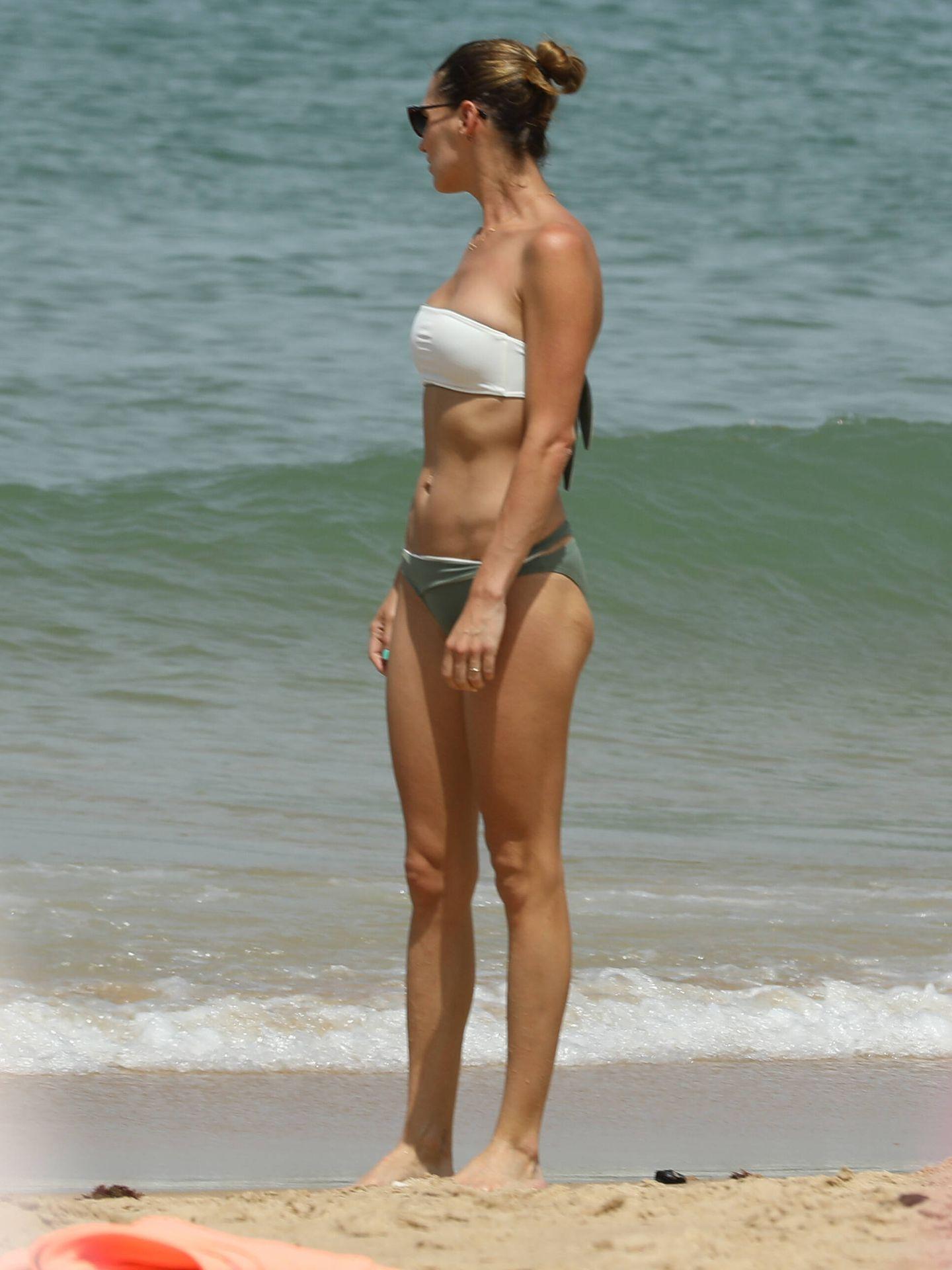 Eugenia, en la playa del buzo. (Clipper)