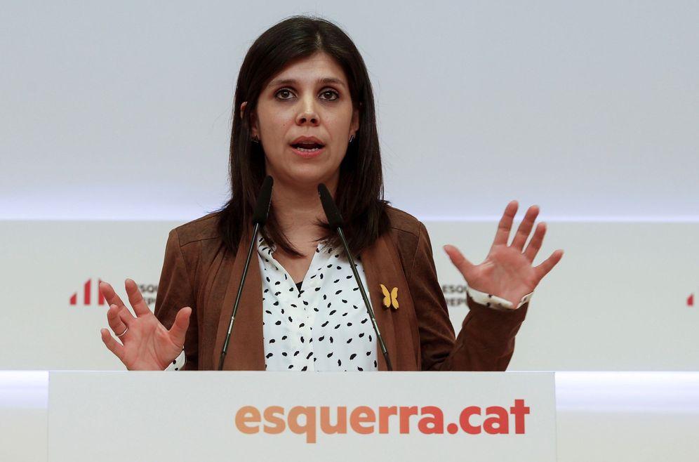 Foto: Marta Vilalta, secretaria general adjunta y portavoz de ERC, el pasado 16 de diciembre en Barcelona. (EFE)
