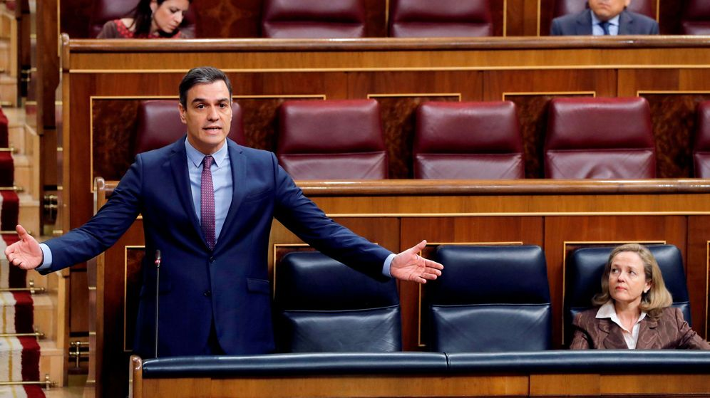 Foto: Pedro Sánchez, durante el debate celebrado en el Congreso el pasado 15 de abril. (Reuters)