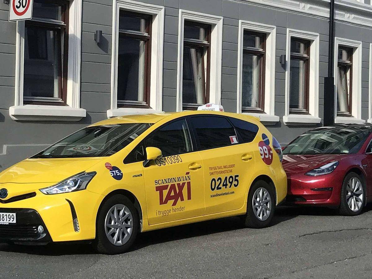 Foto: Los taxis de las principales ciudades noruegas, entre ellas Oslo, son básicamente vehículos Toyota. C.F.C.