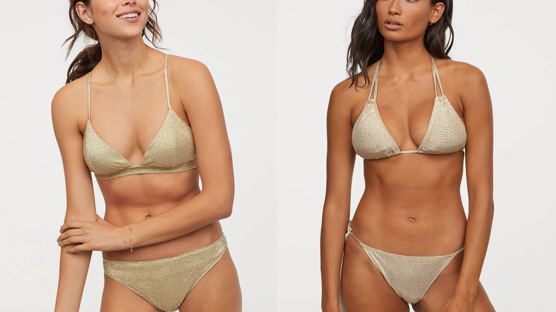 Bikinis joya de H&M (Tops de 14,99€ y 4,99€, braguitas 9,99€ y 4,99€)
