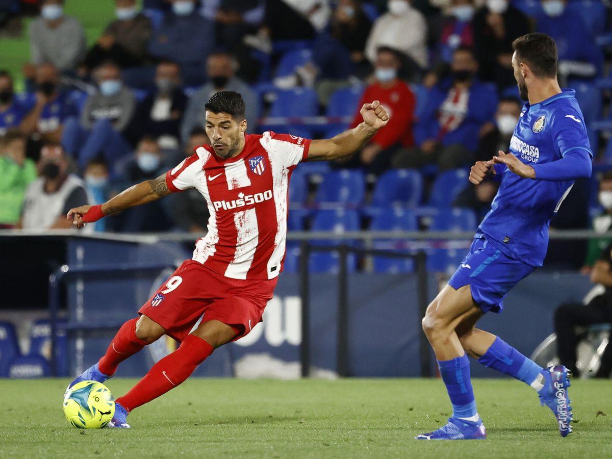 Foto: Suárez, durante el partido. (Reuters)