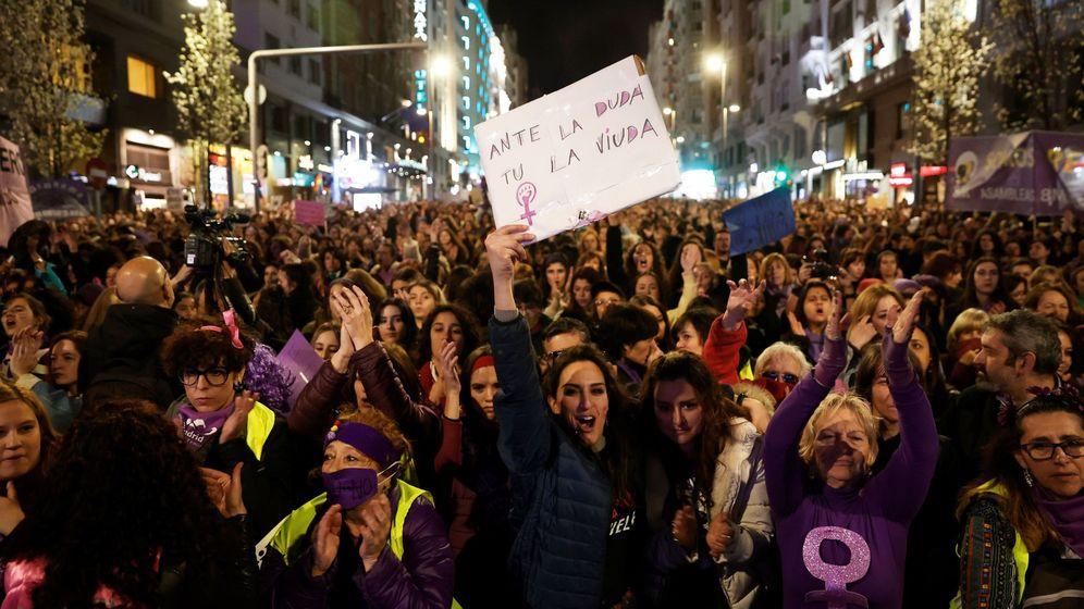Foto: Manifestación del 8 de marzo en Madrid. (EFE)