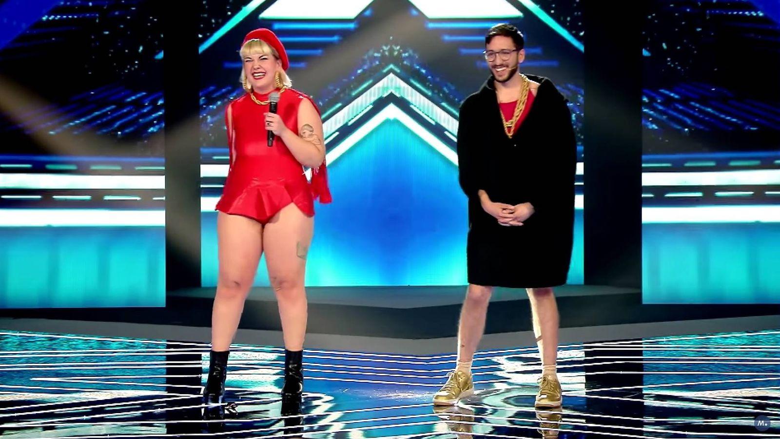 Foto: Los Glitch Gyals en 'Factor X'.