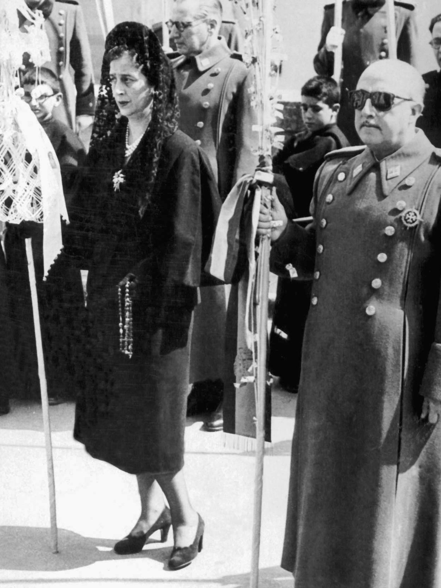 Franco y Carmen Polo. (Cordon Press)