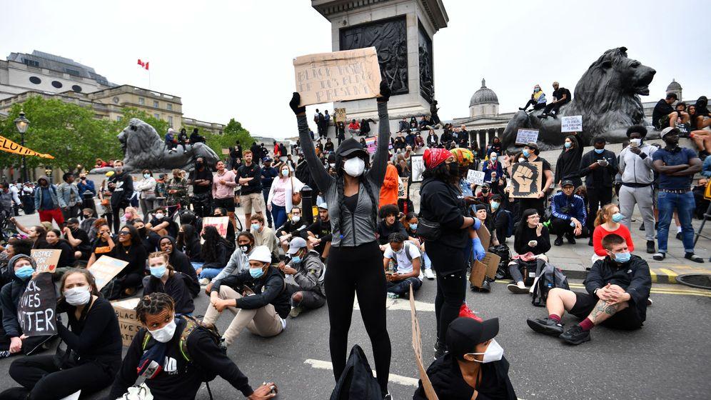 Foto: Manifestación en Londres en apoyo del movimiento Black Lives Matter. (Reuters)