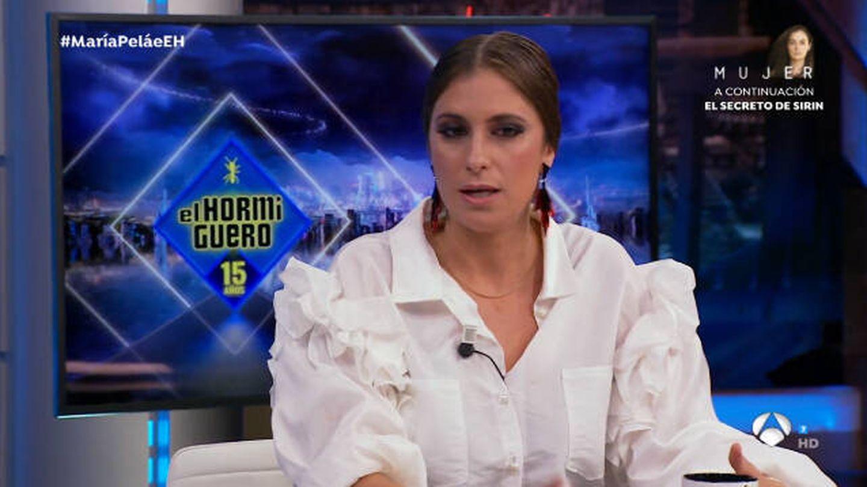 María Peláe en 'El hormiguero'. (Antena 3)