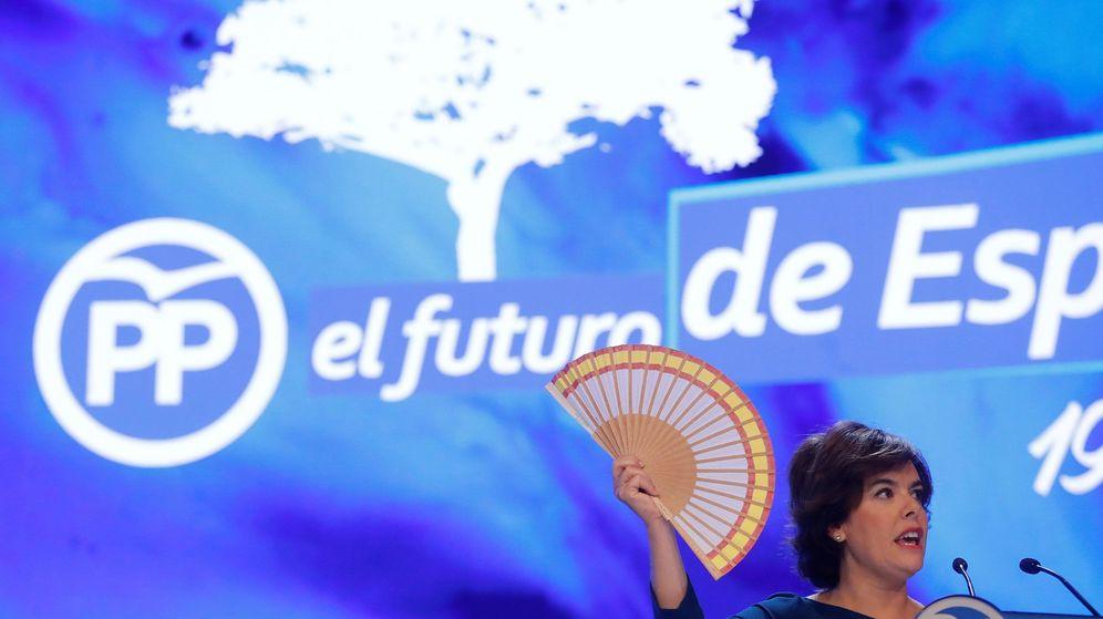 Foto: Soraya Sáenz de Santamaría, durante su intervención en el XIX Congreso del PP. (EFE)