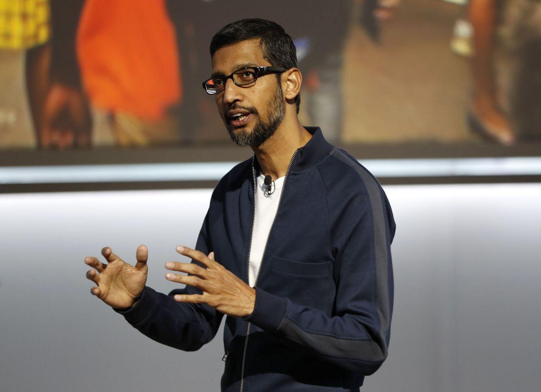 Sundar Pichai, durante la presentación (Reuters)