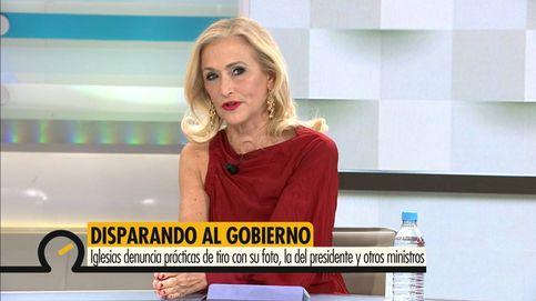 Los zascas de Cristina Cifuentes a Pablo Iglesias tras ver las prácticas de tiro con su foto