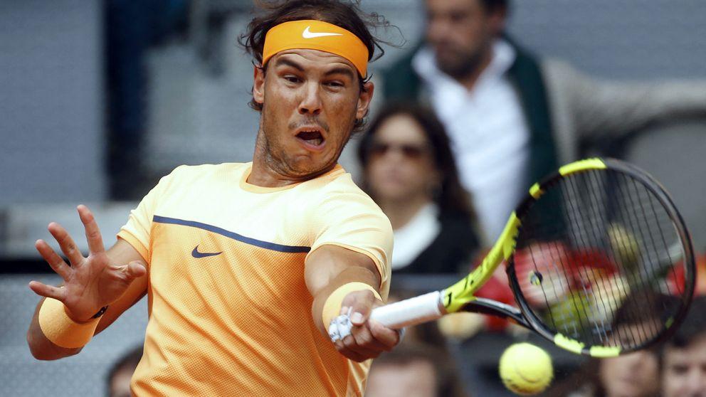 Nadal se crispa en los momentos clave y falla en las semifinales de Madrid