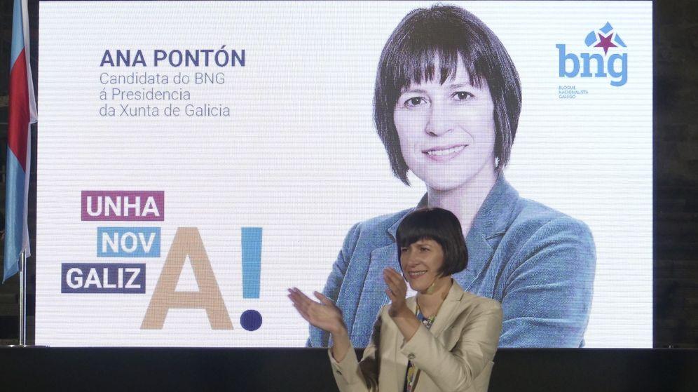 Foto: La candidata del BNG a la presidencia de la Xunta, Ana Pontón, durante un acto electoral en Santiago de Compostela. (EFE)
