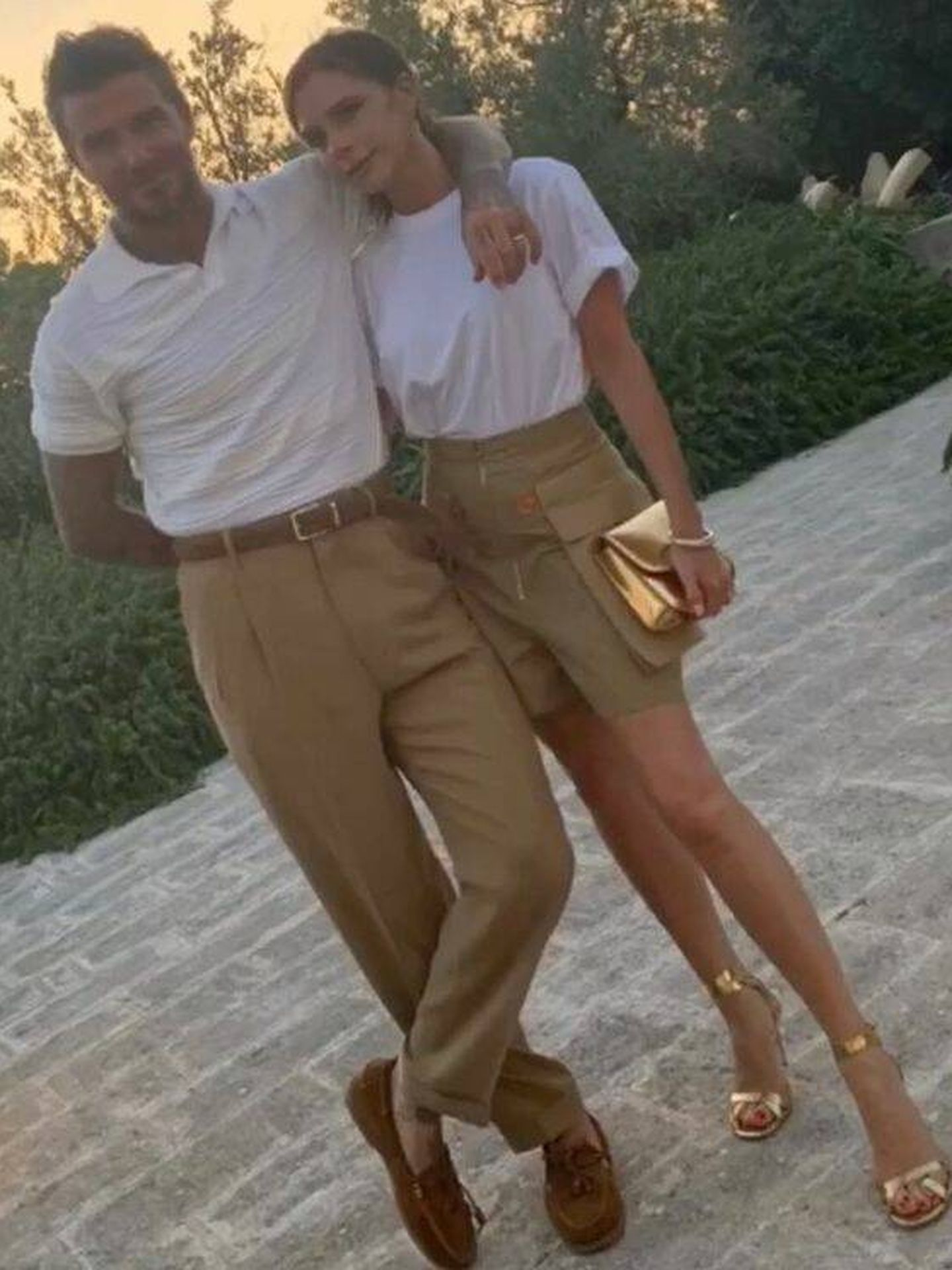 David y Victoria Beckham, hace dos veranos. (Instagram @davidbeckham)
