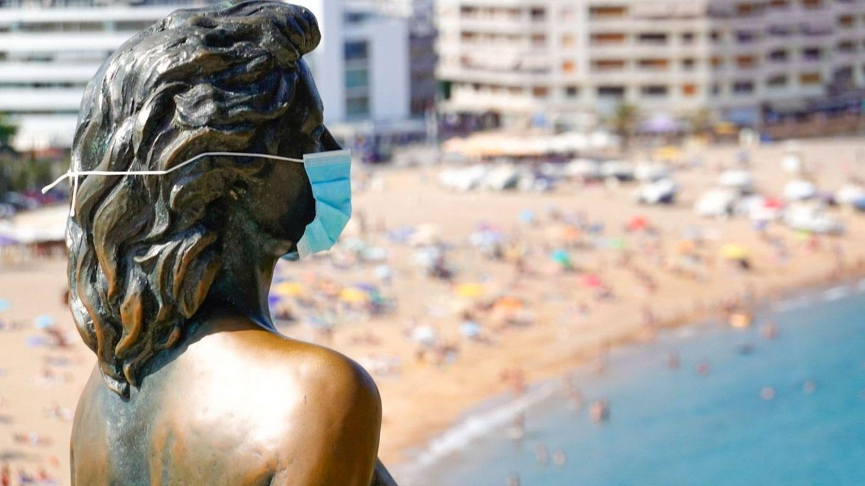 Foto: Estatua de Ava Gadner en la localidad gironina de Tossa de Mar. (EFE)