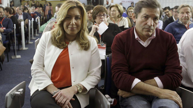Foto: Los presidentes de la Junta de Andalucía, Susana Díaz y Asturias, Javier Fernández. (EFE)