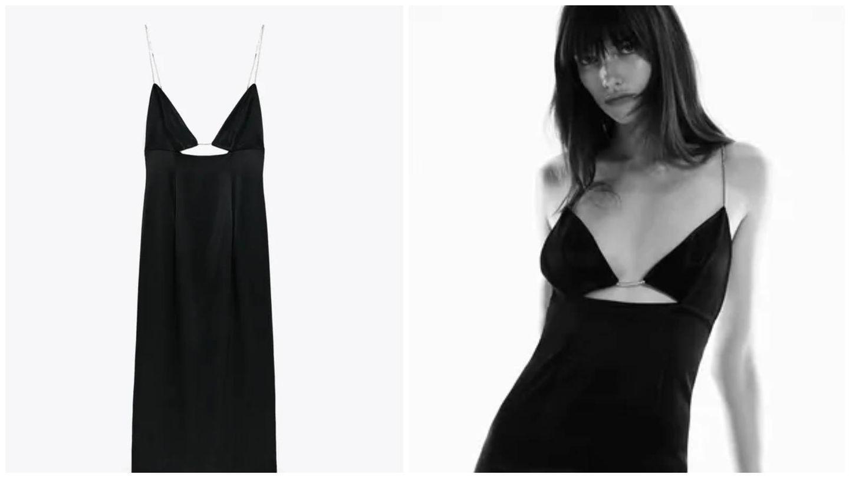 Vestido de fiesta de Zara. (Cortesía)