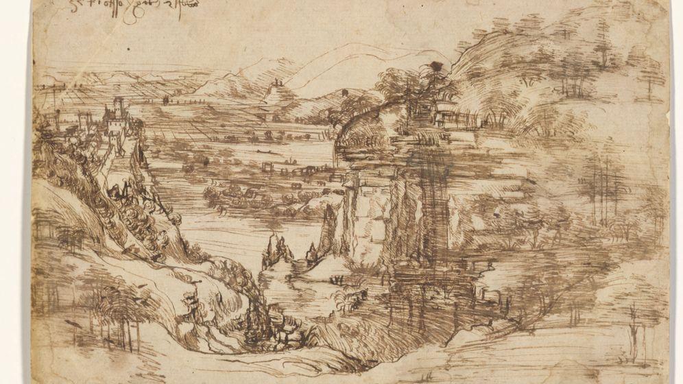 Foto: 'Il paesaggio' la que está considerada como la primera obra de Leonardo Da Vinci (Foto: Galería de los Uffizi)