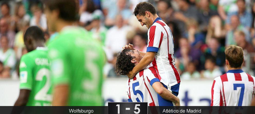 El Atlético dice adiós a la sequía de goles con una 'manita' en casa del Wolfsburgo