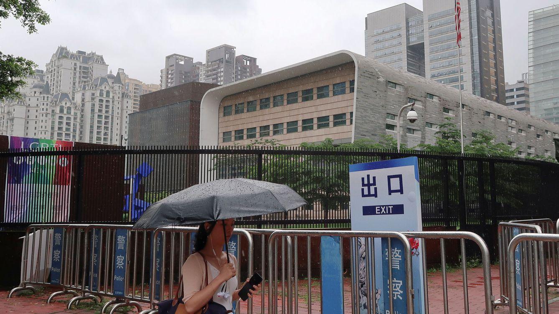 Foto: Vista general del consulado estadounidense en Guangzhou (Cantón), China, el 7 de junio de 2018. (Reuters)