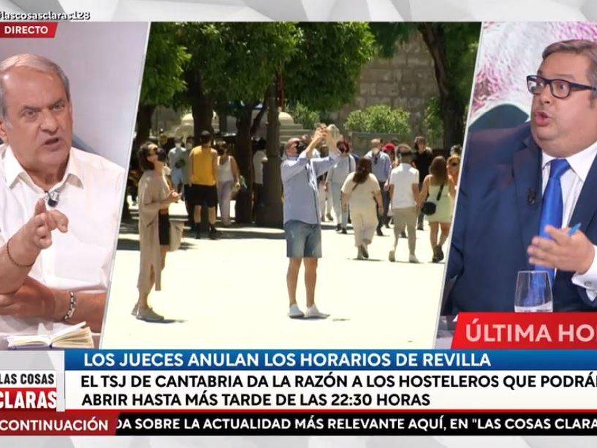 Foto: Javier Aroca y Francisco Simón, en 'Las cosas claras'. (RTVE)