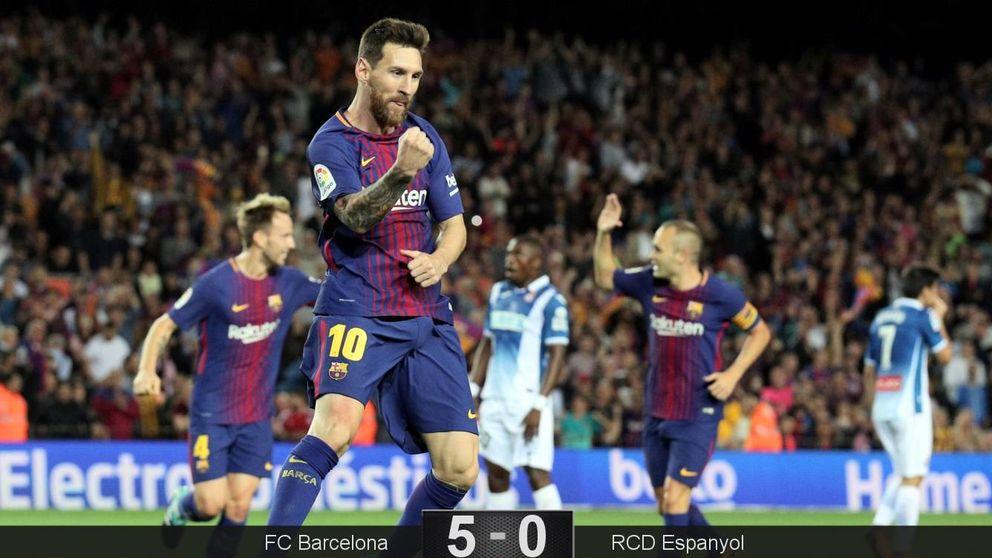 La 'firma' de Leo Messi nunca falla en césped, el Barcelona se lleva el derbi