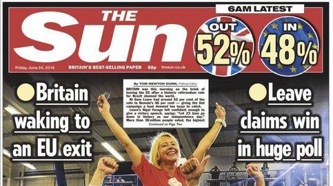 El 'Sun' de Murdoch y los tabloides revientan la campaña del 'remain'