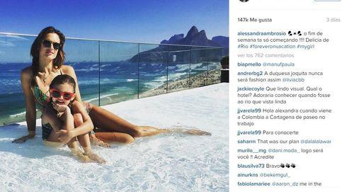 Alessandra Ambrosio, un ángel caído en Río de Janeiro