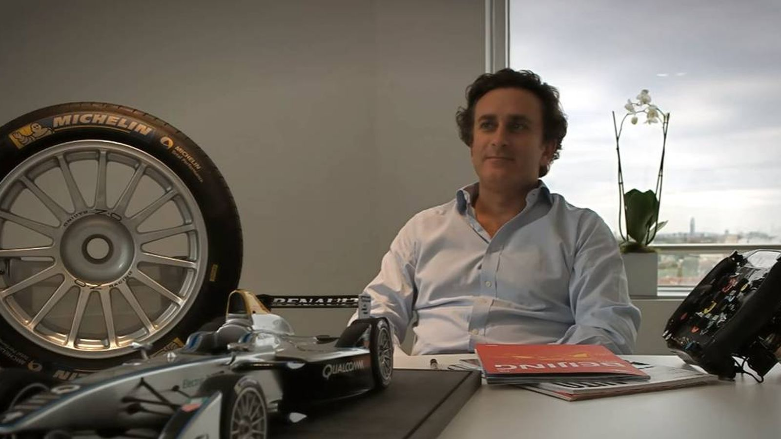 Foto: Alejandro Agag en su despacho londinense de Fórmula E Holdings.