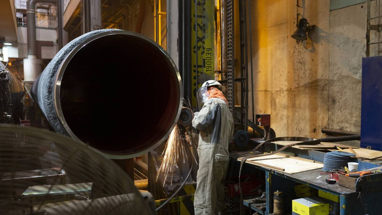 Trabajos dentro del barco Solitaire. (Nord Stream 2/Thomas Eugster)