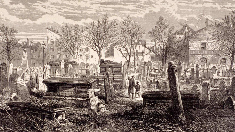 Cementerio de Bunhill Fields, Finsbury, Londres, 1866