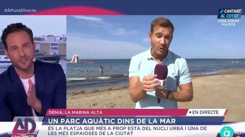 Un reportero de À Punt deja en ridículo a un madrileño por afear el mar valenciano
