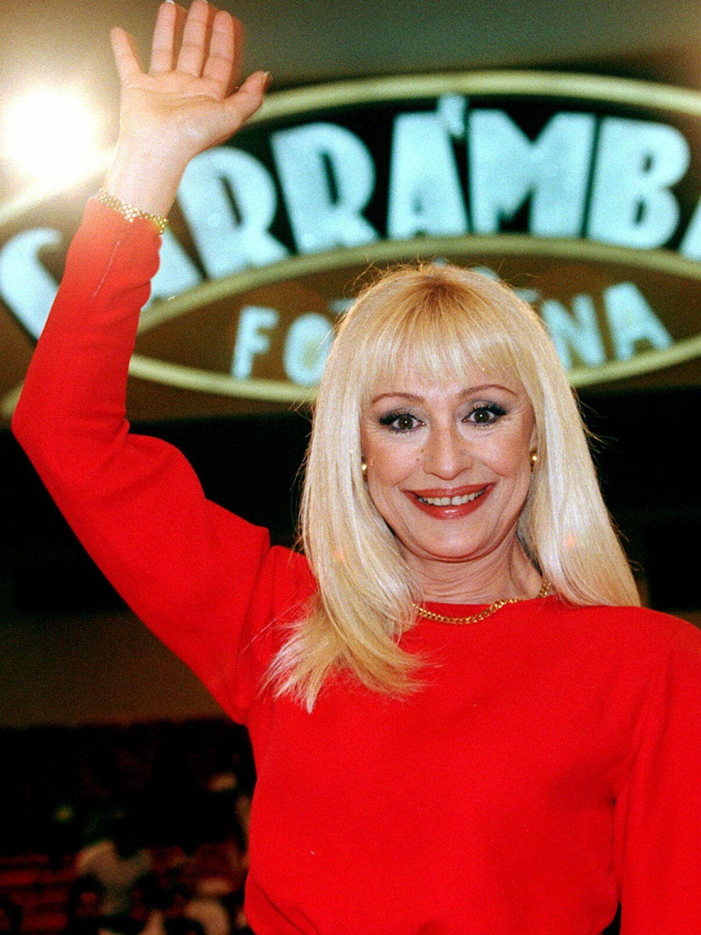 Raffaella Carrà, durante el TV show 'Carramba che fortuna', el 30 de septiembre de 1998. (EFE)