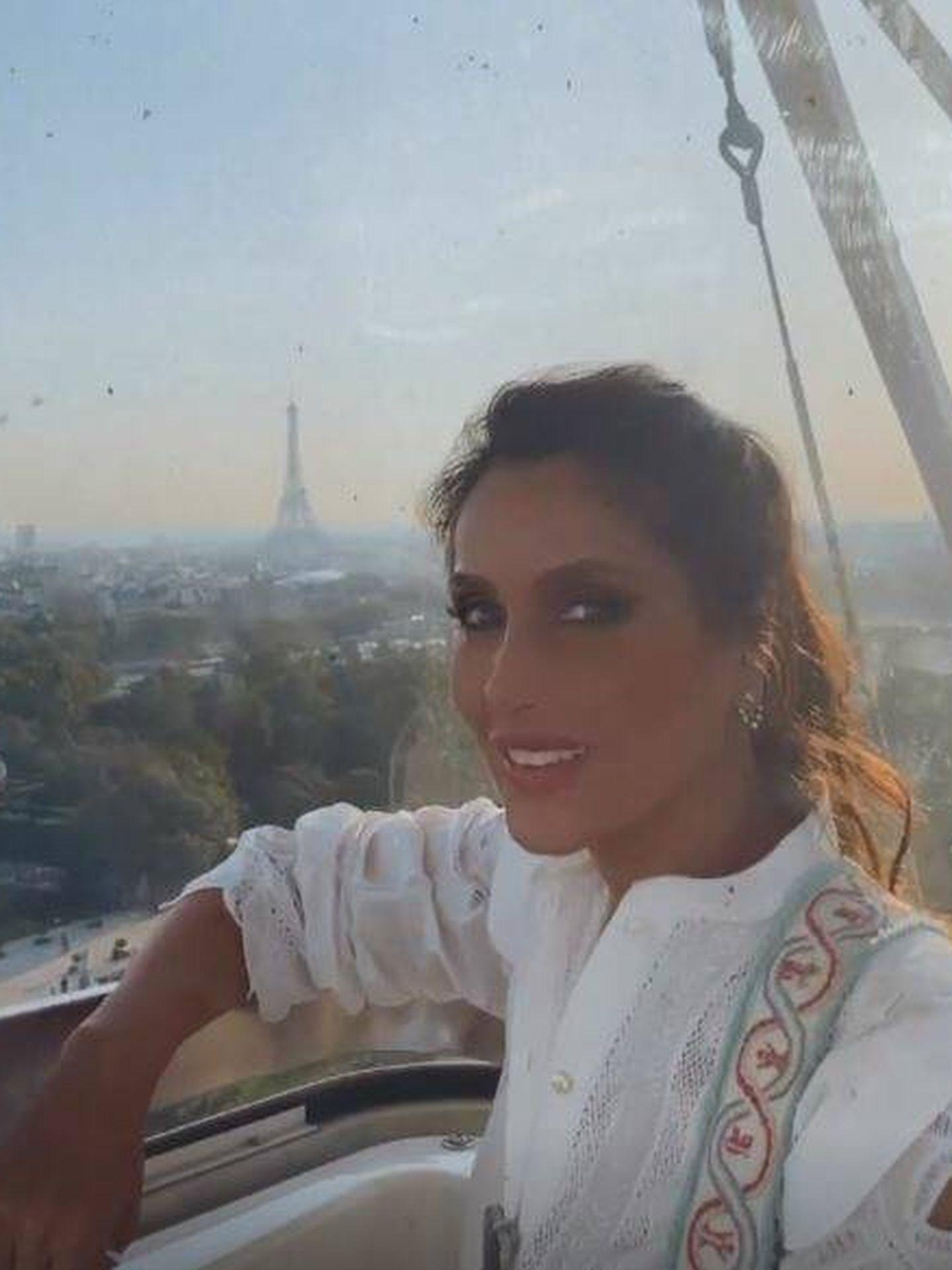 Paloma Cuevas, en París en un stories de Instagram. (@palomacuevasofficial)