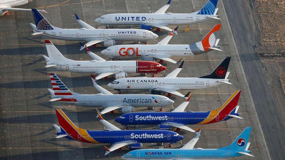 Foto: Distintos modelos de 737 MAX. (Reuters)