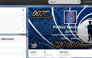 La Policía Nacional supera los 700.000 seguidores en Twitter
