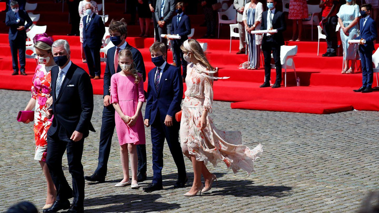 La familia real de Bélgica, al completo. (Reuters)