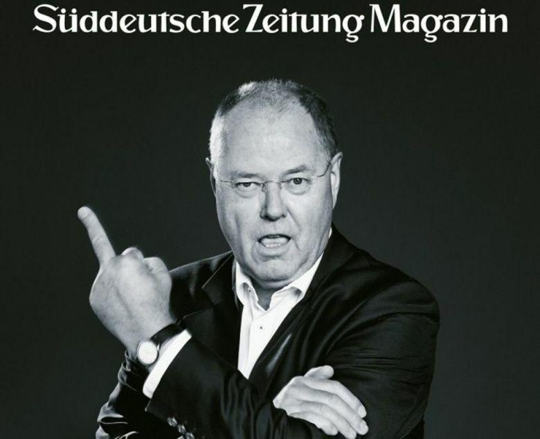 Imagen de Peer Steinbrück en 'Süddeutsche Zeitung Magazin'.