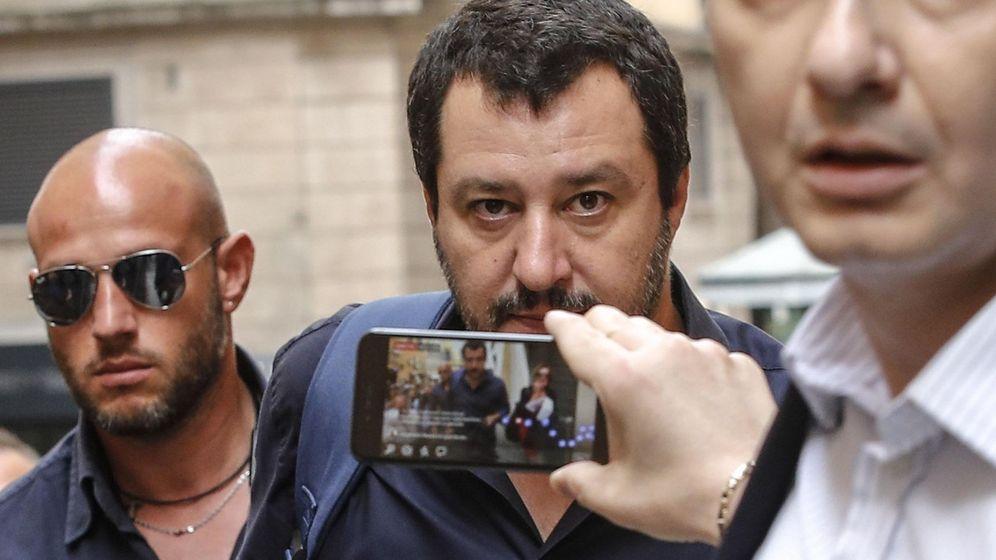 Foto: El líder de la liga, Matteo Salvini, en Roma. (EFE)