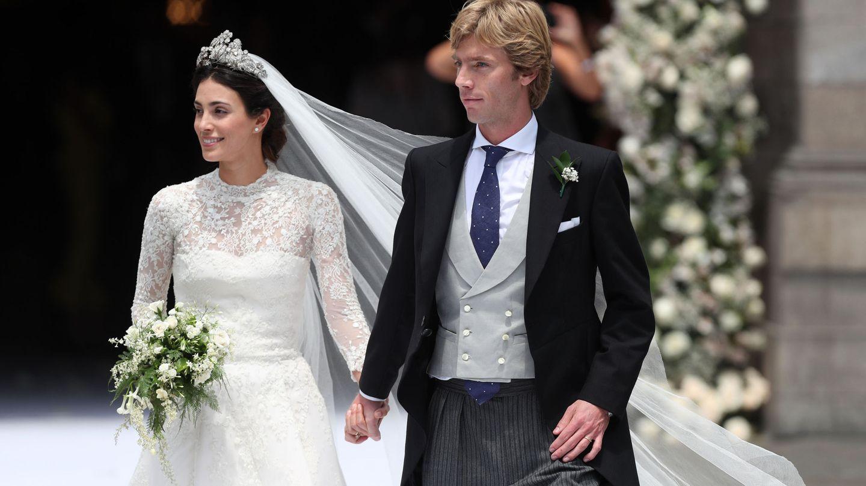 El príncipe Christian de Hannover y Alessandra de Osma el día de su boda.  (EFE)