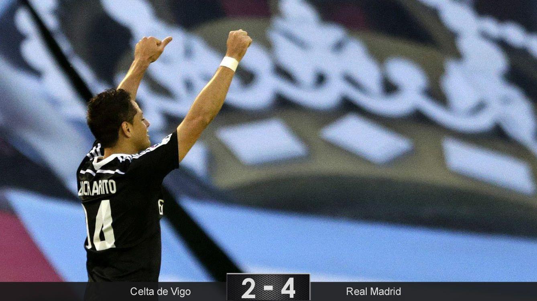 Chicharito sigue volando y empuja al Real Madrid en su victoria frente al Celta