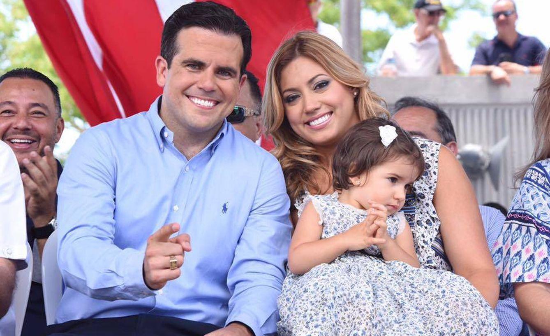 Foto: Rosselló con su mujer y su hija