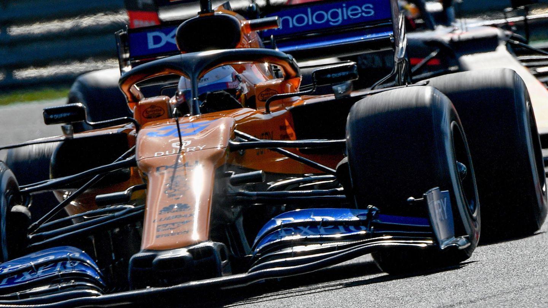 El McLaren de Carlos Sainz en Hungría. (EFE)