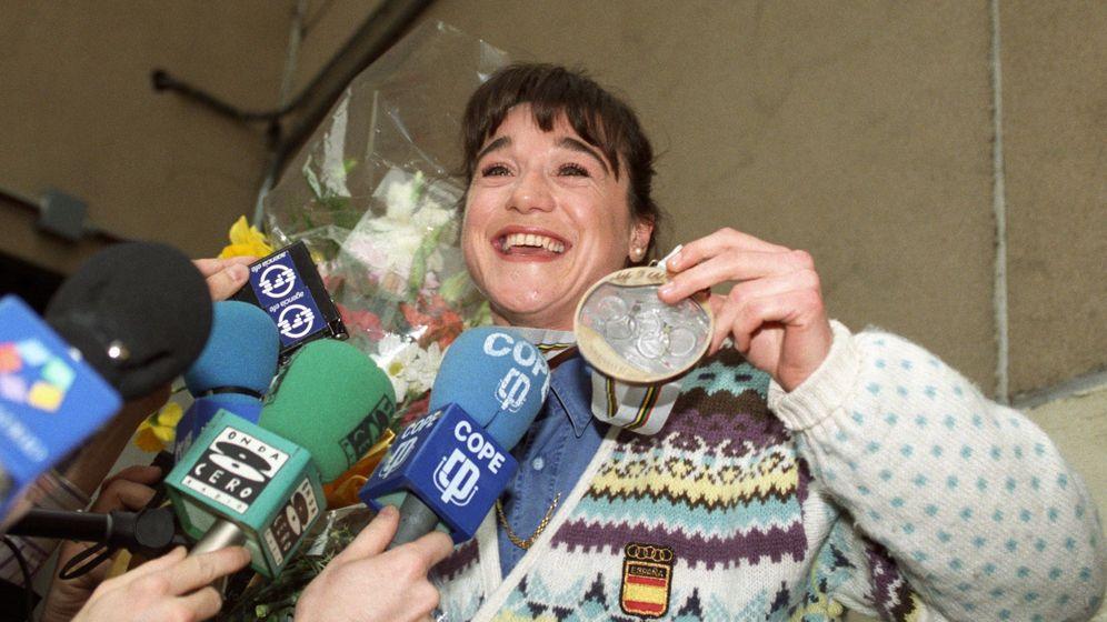 Foto: Blanca Fernández Ochoa, tras los Juegos Olímpicos de Albertville. (EFE)