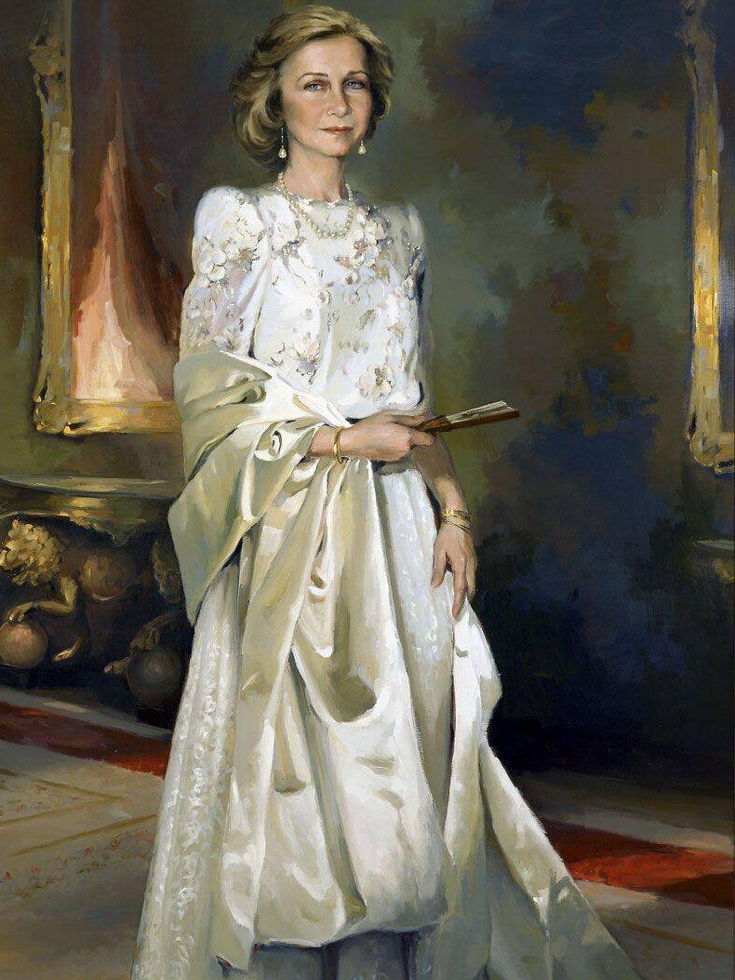 Su retrato de la reina Sofía. (Cortesía)