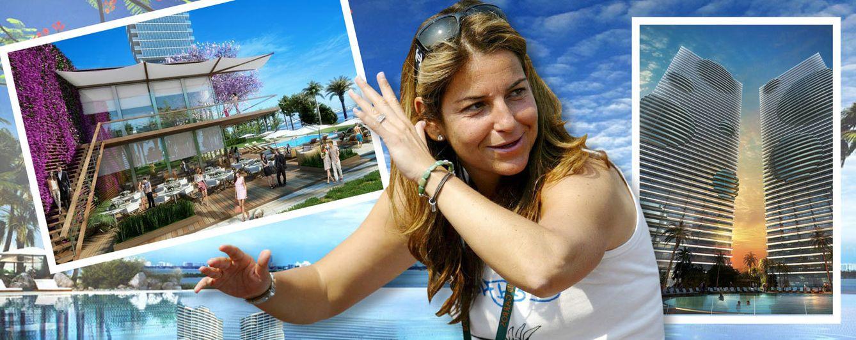 Foto: Arantxa Sánchez Vicario, en un montaje fotográfico que muestra algunas imágenes de su nueva casa en Miami (Vanitatis)