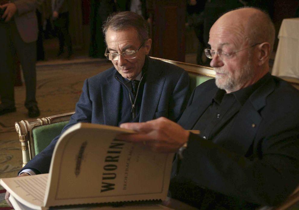 Foto: Gérard Mortier (izquierda), junto al compositor de 'Brokeback Mountain', Charles Wuorinen. (Efe)