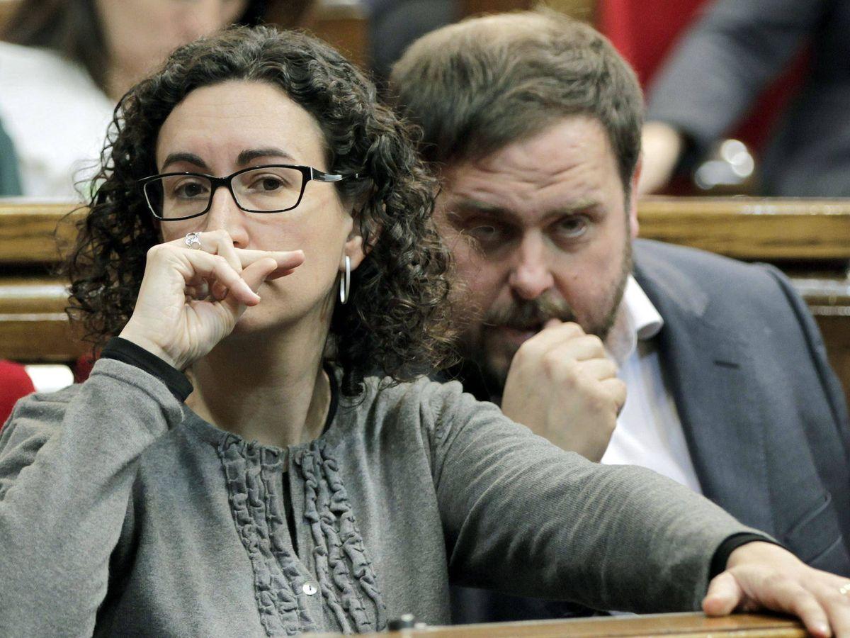 Foto: Fotografía de archivo de Marta Rovira y Oriol Junqueras. (EFE)
