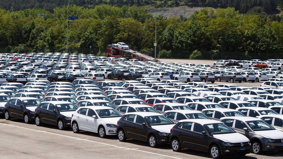 Foto: Volkswagen Polo fabricados en Landaben, de los que más del 85% se destinan a la exportación.