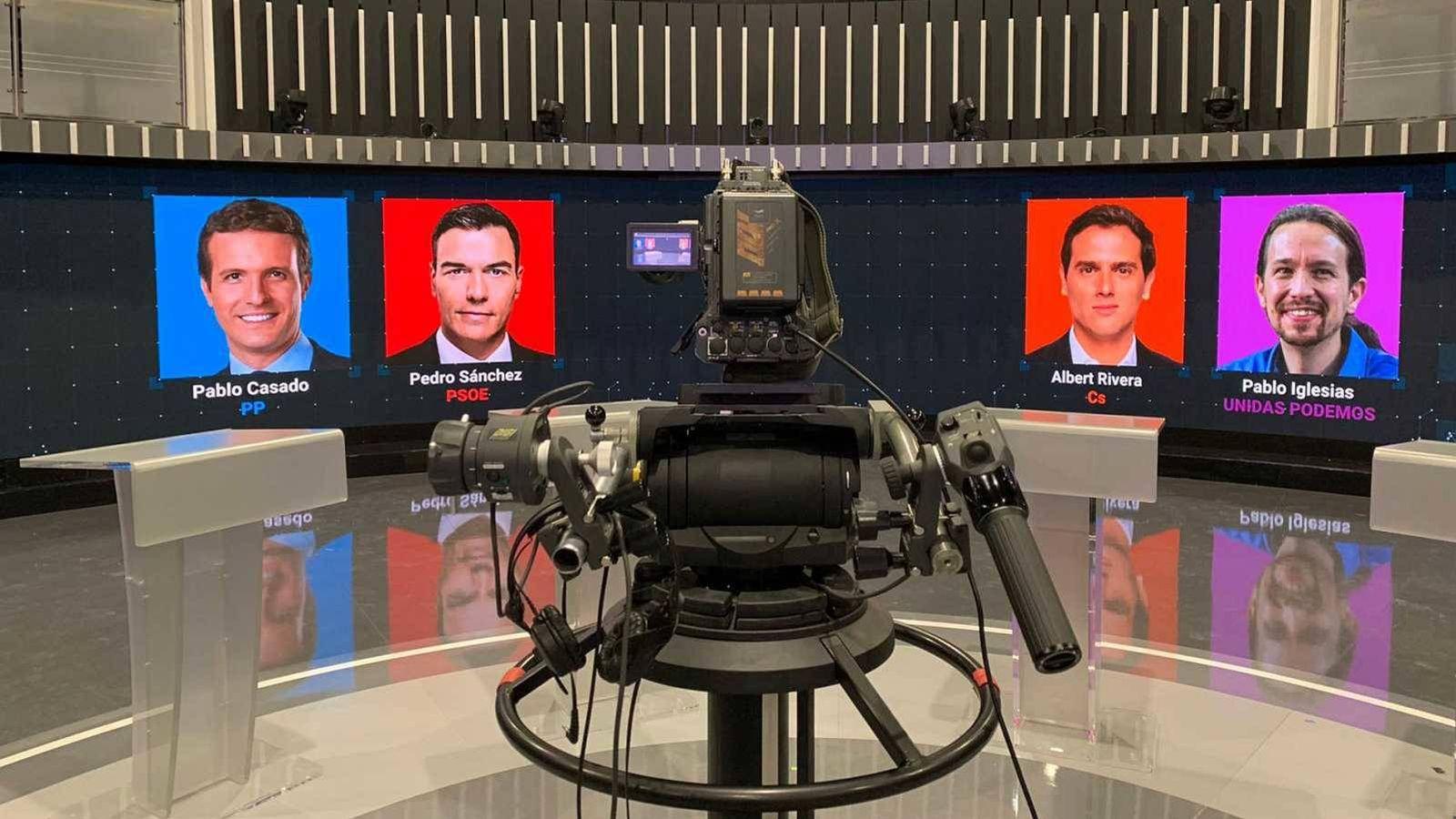 Foto: Plató del debate electoral celebrado en La 1 en las pasadas elecciones. (TVE)